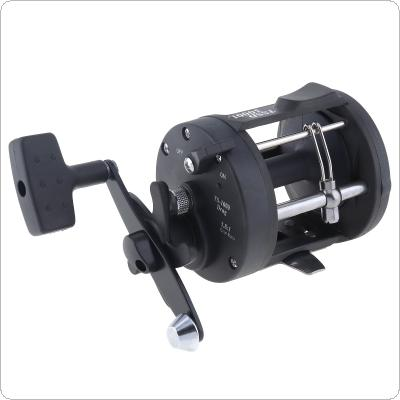 Black Drum Fishing Reel 3000 Series Gear Ratio 3.8:1 Trolling Wheel Casting Boat Sea Fishing Reel