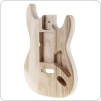Maple Guitar Barrel Body Already Polished Punched for ST Electric Guitar DIY Accessory Support Painting