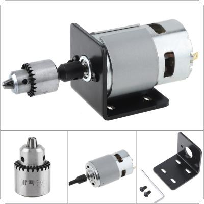 12V-24V 775 Ball Motor Small Bench Drill with JTO Chuck and Mounting Bracket for Milling Machine /  Lathe /  Drilling