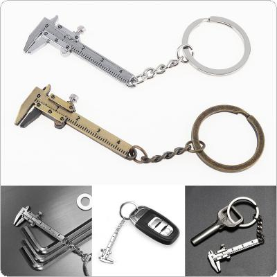 0-40mm Portable Mini Zinc Alloy Vernier Caliper with Chain Keychain and 1mm Accuracy for Measurement