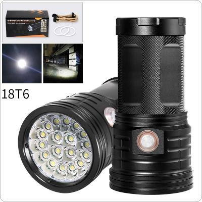 18 x XML-T6 LED 7200 Lumens Super Bright Torch Flash Lamp Flashlight with USB and Micro Charging Port for Lighting / Charging