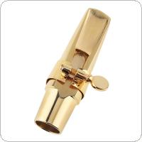 G2 Soprano Saxophone Mouthpiece Gold Plated Sax Mouth Size 5C 6C 7C 8C for Classical Jazz Music with 2 Mouthpiece Cushions