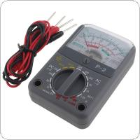 P-2 Mini Portable Pointer-style  Multimeter with One Pair Test Pen for Measuring DC AC Voltage / DC Curren / OHM