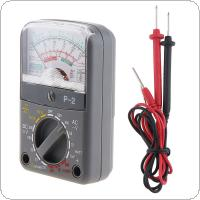 P-2 Mini Portable Needle Style  Multimeter with One Pair Test Pen for Measuring DC AC Voltage / DC Current / OHM