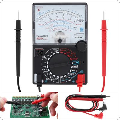 YX- 360TRES Mini Portable Pointer-style Multimeter with One Pair Test Pen  for Measuring DC AC Voltage and DC Curren