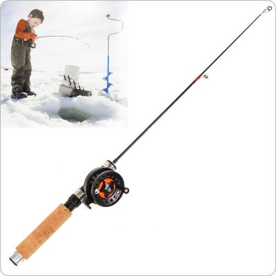 Telescopic Ultra Short 28-65cm Ice Fishing Rod Shrinkable Winter Fishing Pole with Ice Fishing Reel
