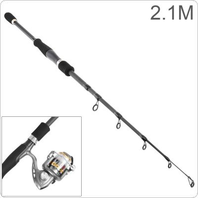 2.1m Carbon Lure Fishing Rod Straight Shank 6 Section Telescopic Ultra Light Travel Fishing Pole Lure Tackle