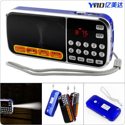 Portable Mini L-088 AM / FM Radio Rechargeable LCD Display Supports TF Card for Old People