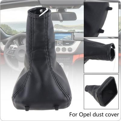 35mm PU Leather + ABS Car Manual Gear Stick Shift Collars Lever Knob Gaiter Dust Cover for Vauxhall Opel Astra G Mk4 Coupe 1998-2003 2000-2005