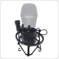 Metal Professional Microphone Mic Shock Mount with 180 Degree Adjustment for Conference / Karaoke
