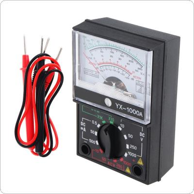 YX- 1000A Mini Portable Pointer-style Multimeter with One Pair Test Pen for Measuring DC AC Voltage and DC Curren
