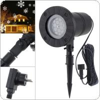 Holiday Decoration LED Snowstorm Lamp with Waterproof and Lawn Lamp for Christmas / Party / Festival