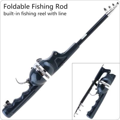 1.4m Foldable Fishing Rod Built-in Fishing Reel with 80m Line Travel Portable Lure Rod
