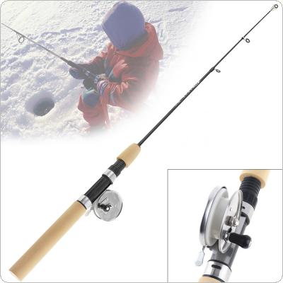 Telescopic Ultra Short 32-80cm Ice Fishing Rod Shrinkable Winter Fishing Pole with Ice Fishing Reel