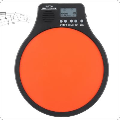 8 Inch Digital Electronic Dumb Drum Pad with Speed Detection Digital Metronome Practice Drum 3 IN 1 for Jazz Drums Exercise