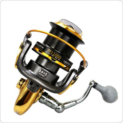 11000 Series 12+1BB 4.6:1 Fishing Reel Trolling Long Shot Casting Big Sea Spinning Wheel Max Drag 25KG / 55LB with Full Metal CNC Rocker Arm