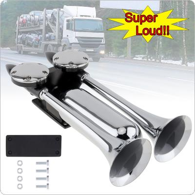 12~24V 130DB Super Loud Dual Trumpet Electronically Controlled Air Horns Extend the Sound Effect by 20~35 Seconds for Car Truck Bus