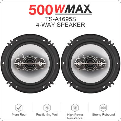 2pcs 6 Inch 16cm 500W 4 Way Car Coaxial Auto Music Stereo Full Range Frequency Hifi Speakers Non-destructive Installation