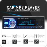 12V 1 DIN In-Dash Bluetooth 7 Color Light Car Stereo FM Radio MP3 Audio Player Support Hands-free Calls Aux Input / SD / USB / MP3 / MMC