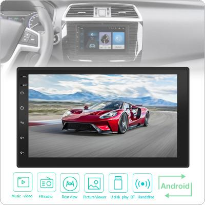 7 Inch QUAD Core Android 7.1 2Din Bluetooth Car FM Radio Stereo Player 1024x600 Digital Touch Screen GPS Navigation Support Mirror Link / Wifi