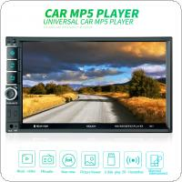 7 Inch 2 DIN Bluetooth In Dash HD Touch  Screen Car Video FM  Radio Stereo Player Support Mirror Link / Aux In / Rear View Camera