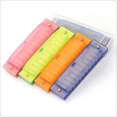 10 Hole 20 Tone Blues Harmonica Colorful ABS Resin Mouth Organ Children's Toy Musical Instruments