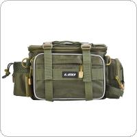 Army Green Outdoor Fishing Bag Multifunctional Waterproof Oxford Cloth Waist Shoulder Messenger Fishing Tackle Reel Lure Camera Storage Bag
