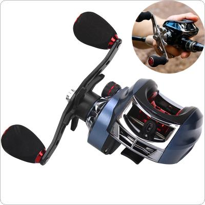 17+1BB High Speed 7.2:1 Gear Ratio Fishing Bait Casting Reel Braking Force 10KG / 22LB with Right Left Hand Optional
