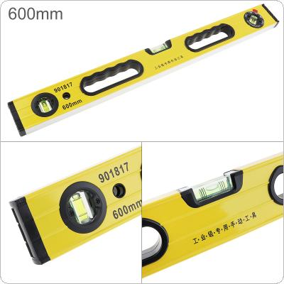 600mm Precision Magnetic Aluminum Alloy Level Angle Ruler with Blister Design and Mm Scale for Building Decoration Measurement