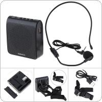 Rolton K100 Portable Wired Mini Audio Speaker Megaphone Voice Amplifier Loudspeaker Microphone Waist Band Clip Support FM Radio TF MP3 Player for Guide