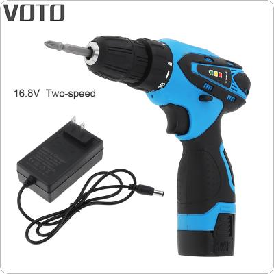 VOTO AC 100 - 240V Cordless 16.8V Electric Screwdriver with Li-ion Battery and Two-speed Adjustment Button for Handling Screws / Punching