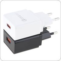 Heat Resistant Universal 3.0 Travel Mini USB EU Plug Charger for Mobile Phone / Tablet