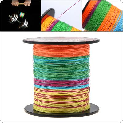 100M Multicolor Fishing Line 22-82LB 4 Strands Weaves PE Braided Multifilament Fishing Rope