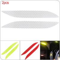 3 Colors 15.6 x 2 CM 2pcs Crystal Lattice PVC Car Refit Bumper Fog Lamp Reflective Warning Collision Avoidance Sticker