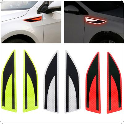 3 Colors 19 x 4.2 CM Universal Crystal Lattice PVC Security Warning Reflective Tape Mudguard Blade Waist Line Body Scratches Decorative Stickers