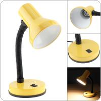LED Portable Flexural Desk Lamp with Wide Voltage and Push Switch Support E27 Bulb for Student Dormitory / Office