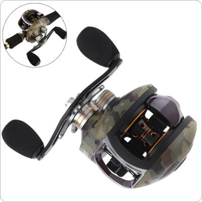 12+1BB High Speed 8.1:1 Gear Ratio Camouflage Green Fishing Bait Casting Reel Braking Force 8KG / 17.6LB with Right Left Hand Optional