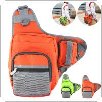 3 Layer 1000D Oxford Cloth Fishing Bag Multifunctional Messenger Waist Bag Waterproof Fishing Lure Reel Line Tackle Storage Bag 2 Colors Optional