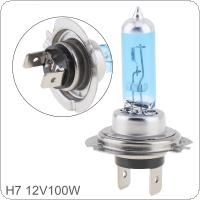 12V H7 100W 5000K White Light Super Bright Car Halogen Lamp Auto Front Headlight Fog Bulb
