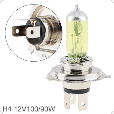 12V H4 100 / 90W 2500K Yellow Light Super Bright Car Halogen Lamp Auto Front Headlight Fog Bulb