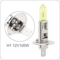 12V H1 100W 2500K Yellow Light Super Bright Car Halogen Lamp Auto Front Headlight Fog Bulb