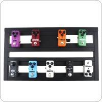 56 x 32cm Guitar Pedal Board Setup Bigger Style DIY Guitar Effect Pedalboard with Installation Accessories