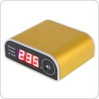 US003 Gold 80KW Rat Repelling Power Saver 110-250V Wide Voltage Electricity Saving Box with LED Display and Power Switch for Home / Factory