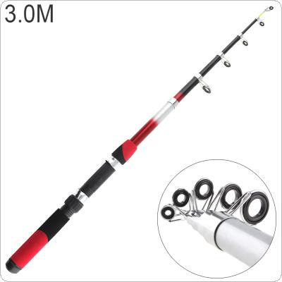 3.0m Portable Telescopic Glassfiber Fishing Rod Travel Sea Rock Spinning Fishing Pole