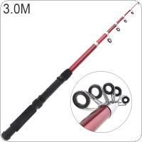 3.0m Glassfiber Telescopic Fishing Rod Sea Pole Travel Sea Rock Rods