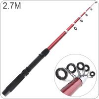 2.7m Glassfiber Telescopic Fishing Rod Sea Pole Travel Sea Rock Rods