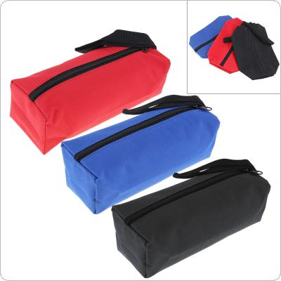 600D Multifunctional Canvas Tool Bag Oxford Cloth Parts Bag with Zipper for Maintenance Tool Storage