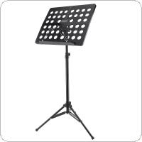 Flanger Folding Lightweight Music Stand ABS Sheet Aluminum Alloy Tripod Stand Holder Height Adjustable with Carrying Soft Cotton  Bag