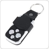 433Mhz Metallic 4 Channel Duplicator Copy Wireless Remote Control with Wallet Keychain and Indicator Light for Universal Door Gate