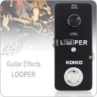 KOKKO Mini Electric Guitar Bass Effect Pedal LOOPER Recording Support 5 Minutes Record 2.0 USB Uploads Downloads Function with USB Cable